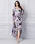 Robe à motif floral en mousseline