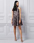 Sparkle Lace Halter Neck Dress