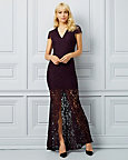 Lace Deep V-Neck Gown