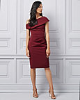 Double Weave One Shoulder Cocktail Dress