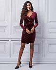 Velvet Wrap-Like Dress