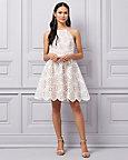 Laser Cut Knit Halter Neck Dress