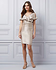 Foil Knit Wrap-Like Dress