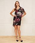 Floral Print Chiffon One Shoulder Dress