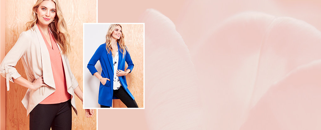 Go-To Blazers. Pull it all together with our effortless blazers.
