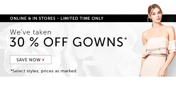 Shop Gowns on Sale