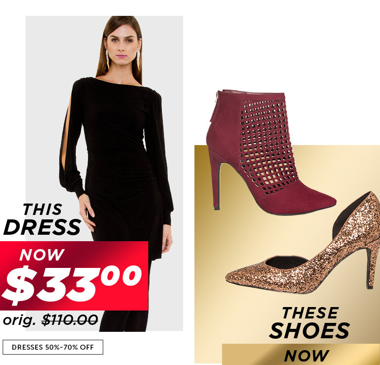 Shop Black Friday Deals on Outlet Dresses