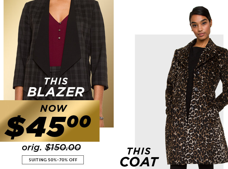 Shop Black Friday Deals on Outlet Suiting