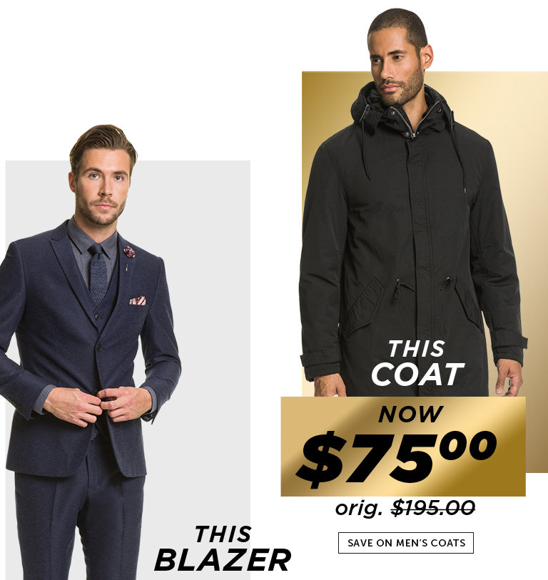 Shop Black Friday Deals on Men's Coats