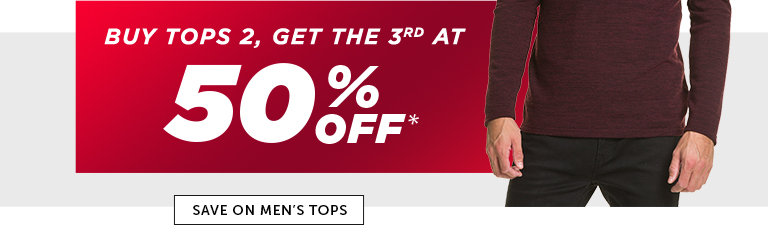 Shop Black Friday Deals on Men's Outlet Tops