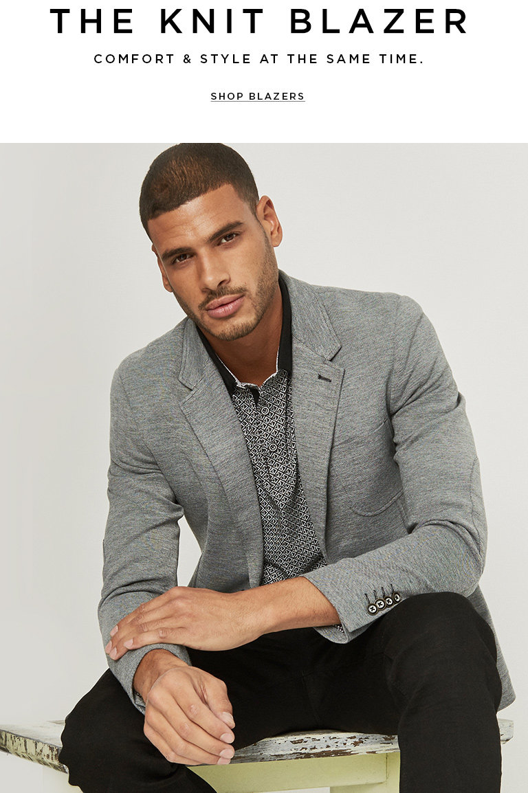 The knit blazer