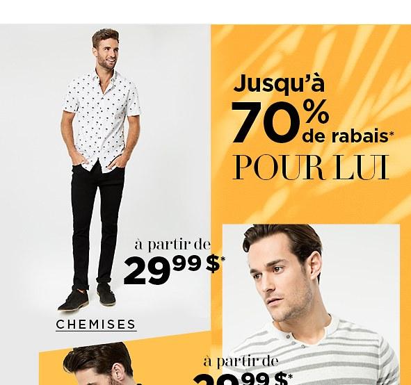 Magasinez les chemises de l'entrepôt pour hommes