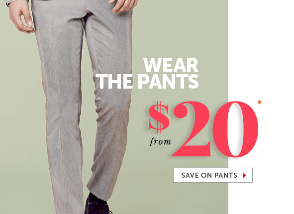 Shop Outlet Pants for Men