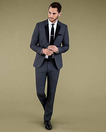 TONAL VISCOSE BLEND SLIM FIT BLAZER