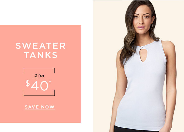 Sweater tanks 2 for $40
