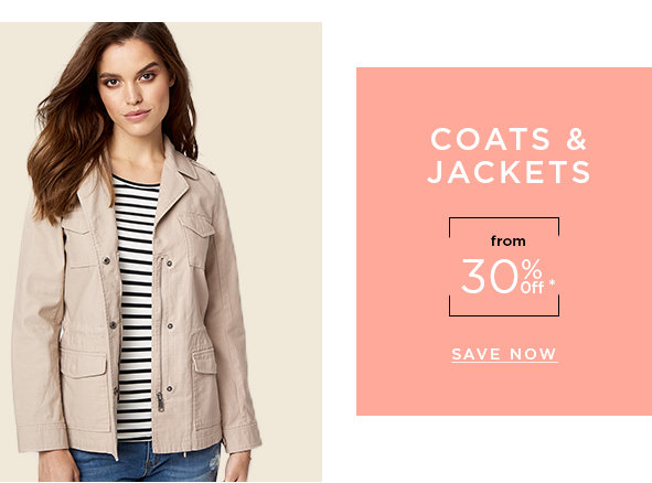 Coats & jackets 30% off