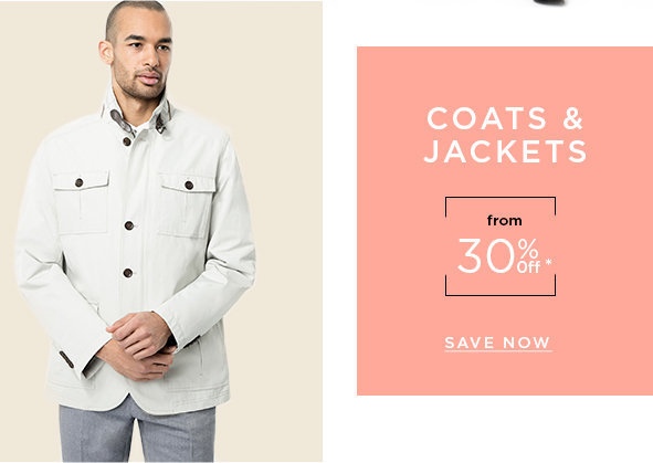 Coats & jackets from 30% off