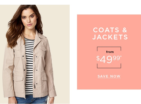 Coats & jackets from $49.99