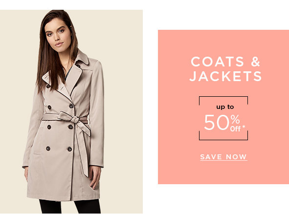 Coats & jackets from 50% off*