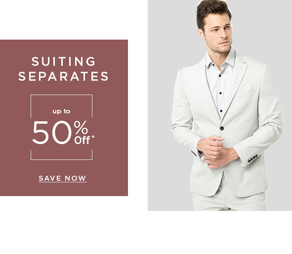 Suiting seperates up to 50% off