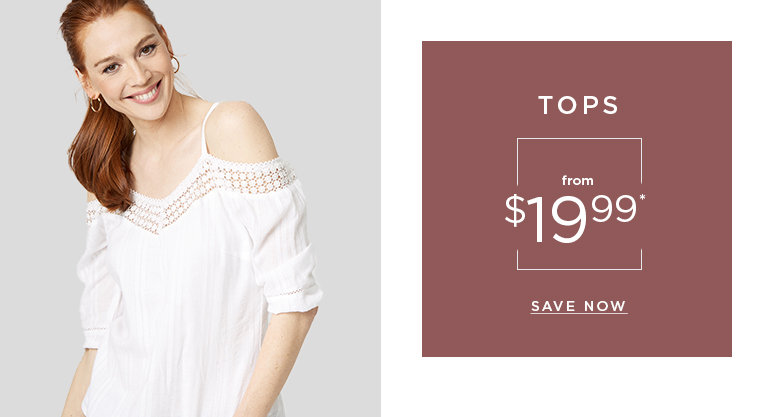 Tops from $19.99