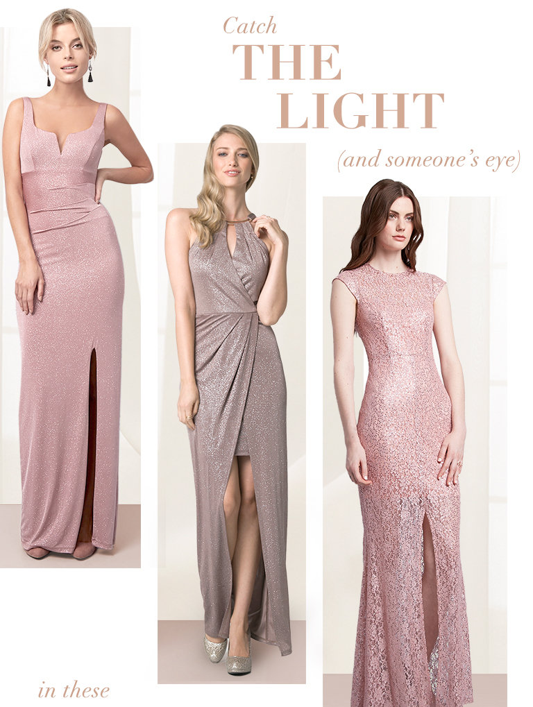 Shop shimmering dresses
