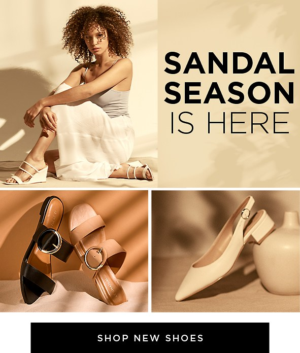 Sandal Season Is Here. Get set for a stylish summer in our latest sandals. Shop New Shoes