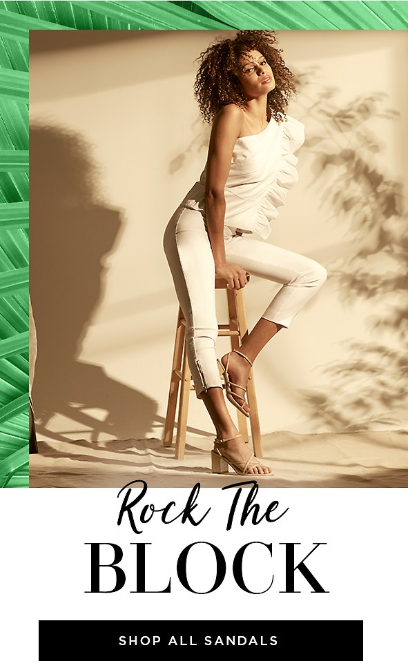 Chic block heels that are majorly comfortable. Win, win. Shop Sandals