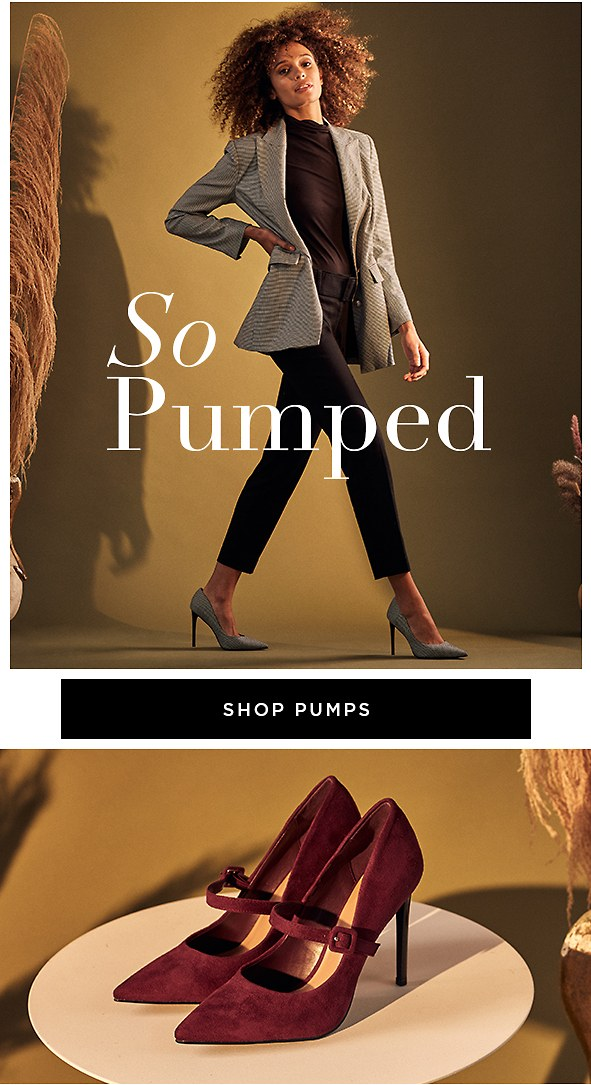 Uplifting pumps that go perfectly with almost everything in your closet.