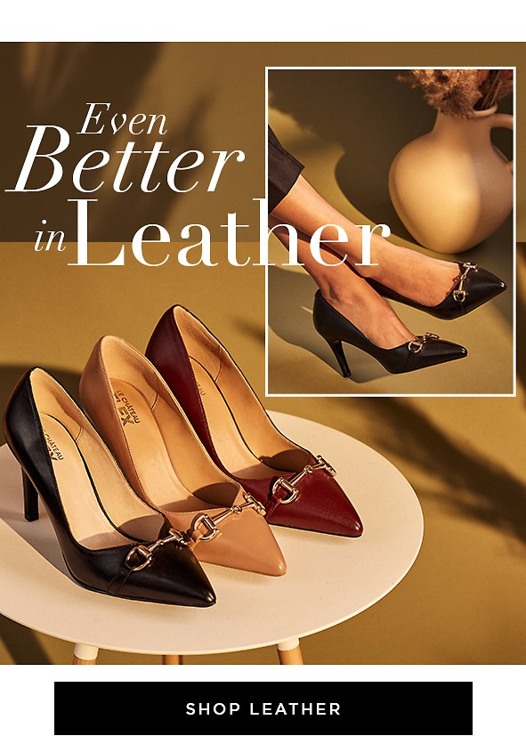 Luxurious leather makes everything better, these 100% leather shoes were made to last.