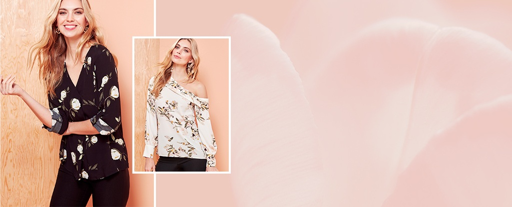 Pretty Tops. Add a little something extra to your everyday look with these fun & fresh tops.