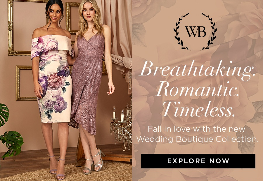 Fall in love with the new Wedding Boutique Collection.