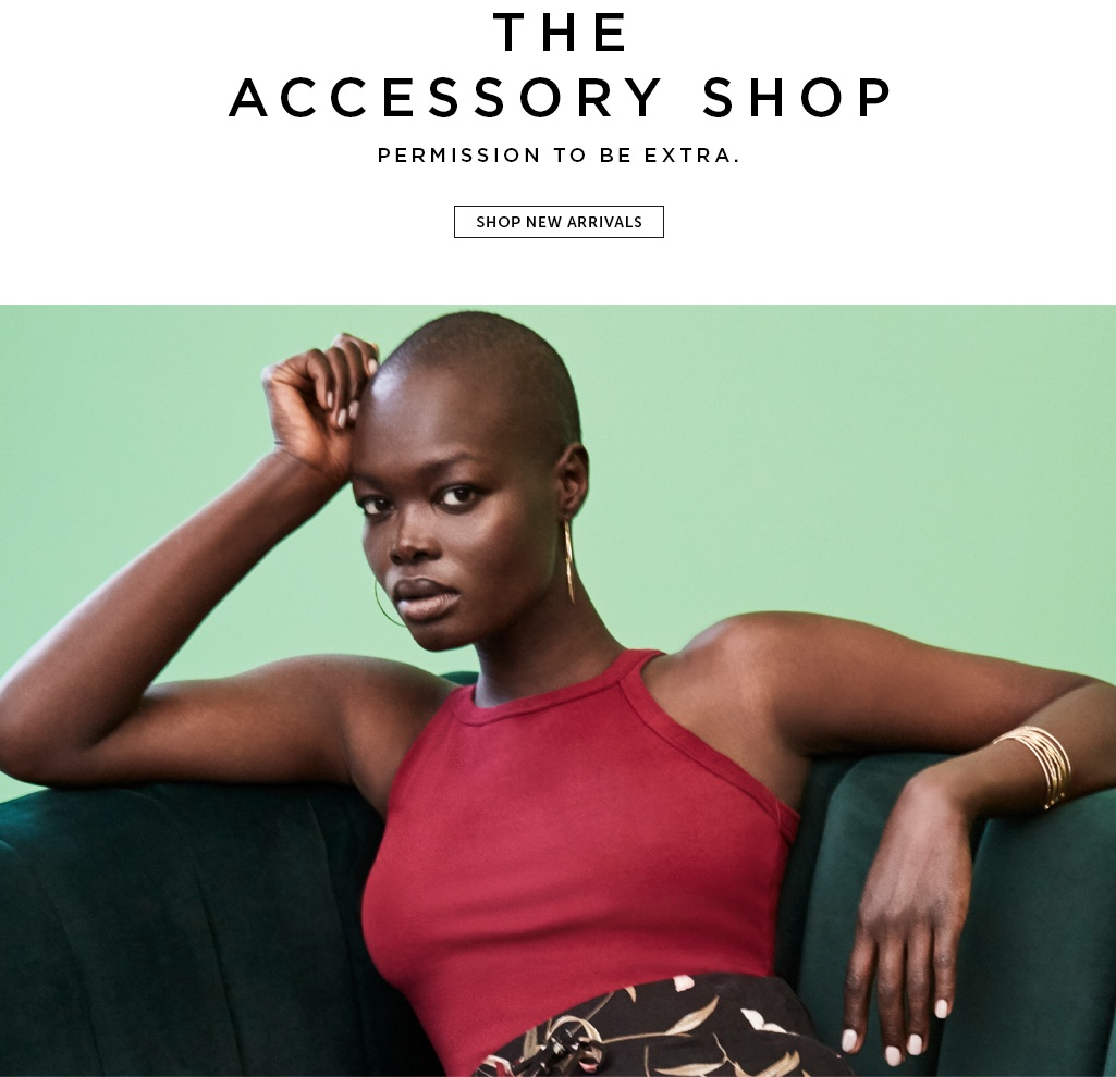 THE ACCESSORY SHOP Permission to be extra. Shop new arrivals>