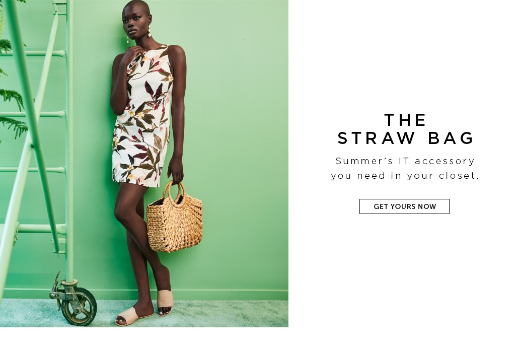 THE STRAW BAG. Summer's IT accessory you need in your closet.  Get yours now>