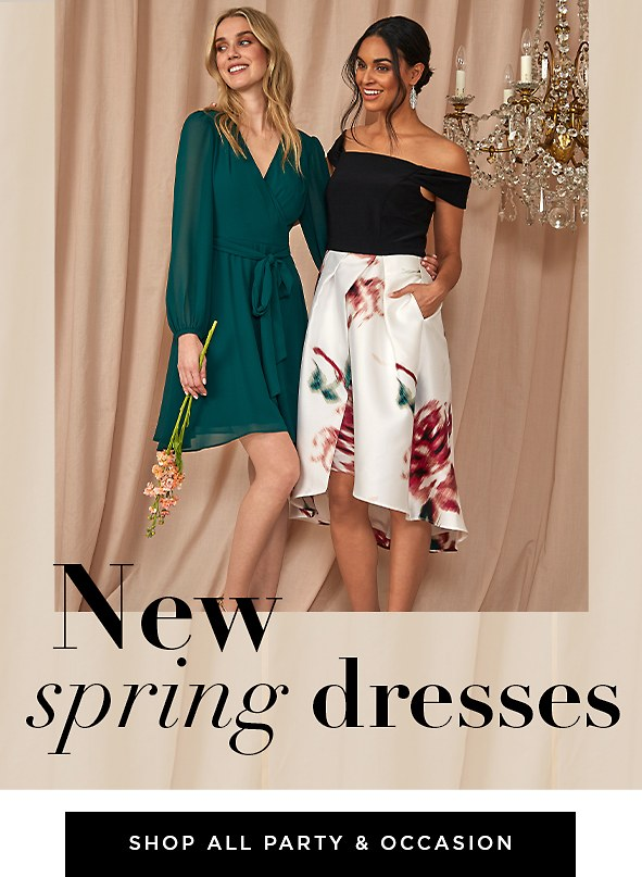 New Spring Dresses. Celebrate with these gorgeous new styles.  Shop All Party & Occasion