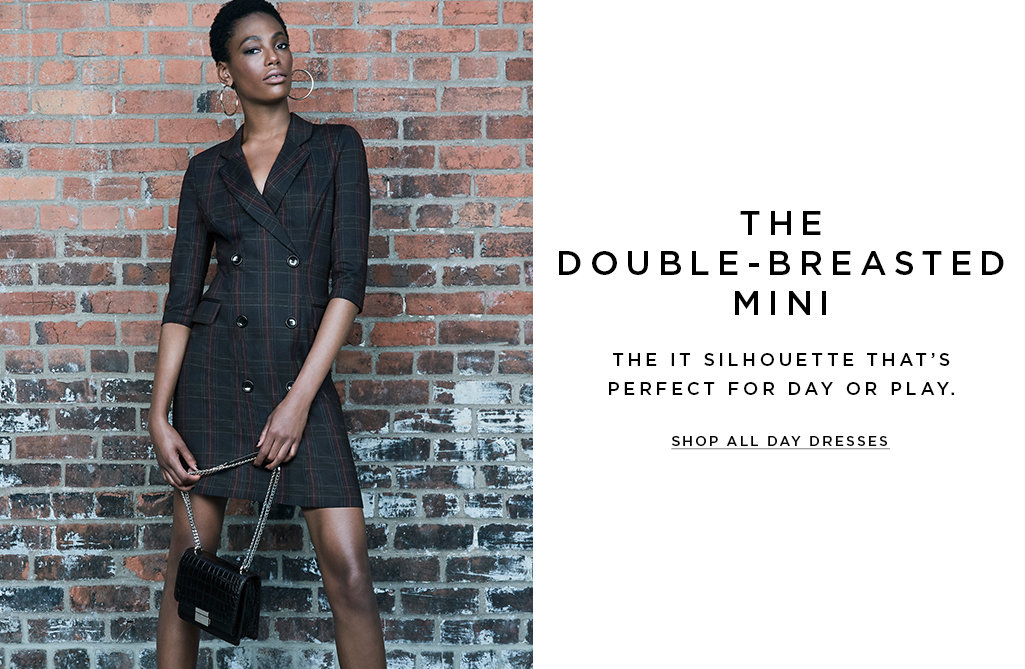 The double-breasted mini 