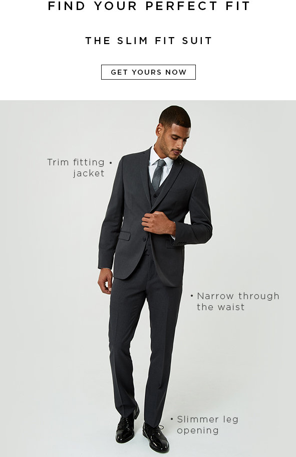 Shop Men's Slim Fit Suits