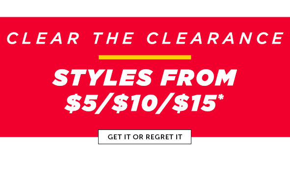 Shop the Clearance