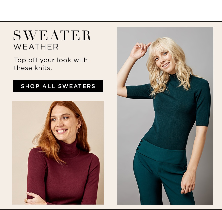 Top off your look with these knits. Shop all sweaters