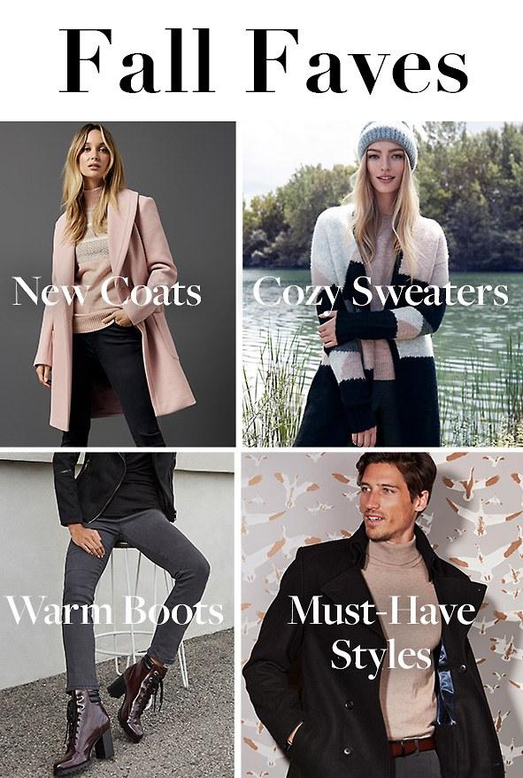 Fall Faves. New Coats. Shop Coats