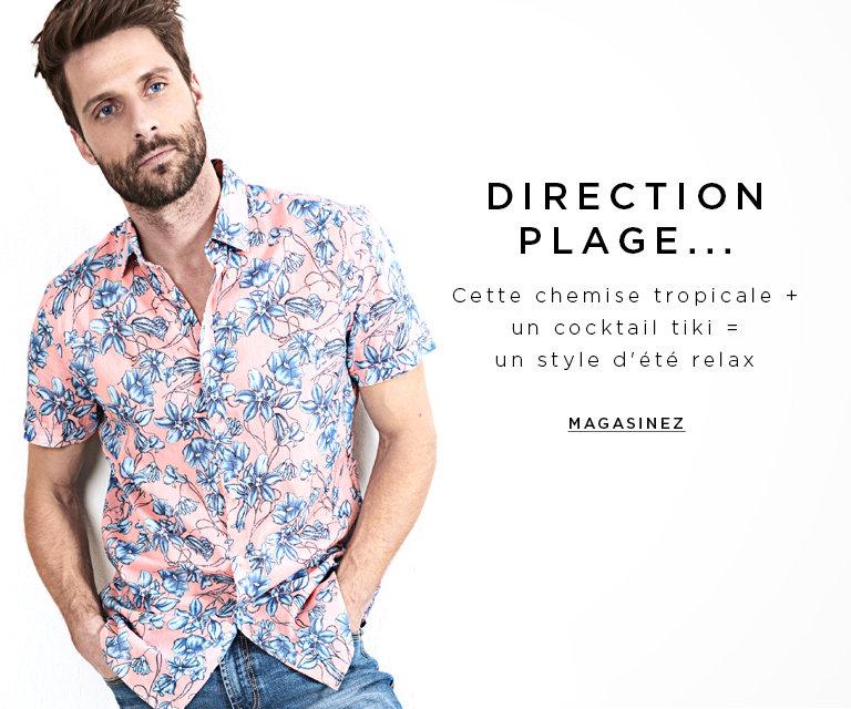 Magasinez les chemises tropicales pour hommes
