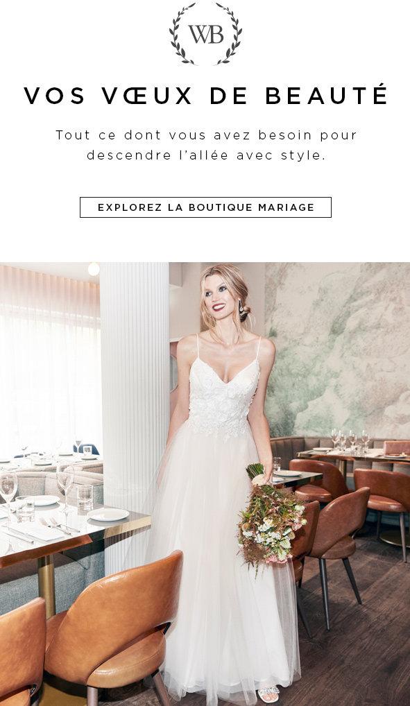 Magasinez les robes de mariage, robes de demoiselles d'honneur et les robes d'invitées à un mariage