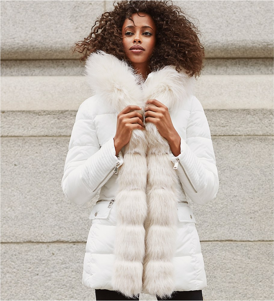 THE COMFORT ZONE Luxe coats, oversized sweaters and cozy layers make this cool snap just fine.