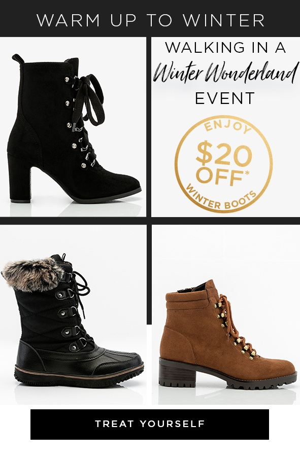 Shop the $20 Off Boot Event