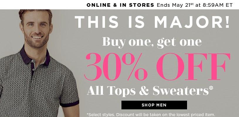 Shop Men's Tops on Sale