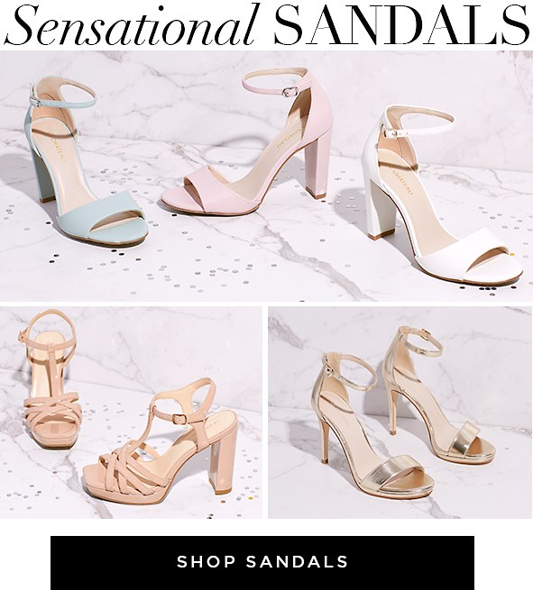 Sensational Sandals. Talk about versatile. These barely-there sandals work with almost anything. Shop Sandals