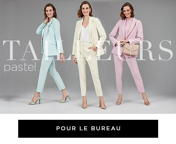 Printemps ou été, optez pour ces tenues modernes et stylées. Magasinez les coordonnées de tailleurs pour femmes