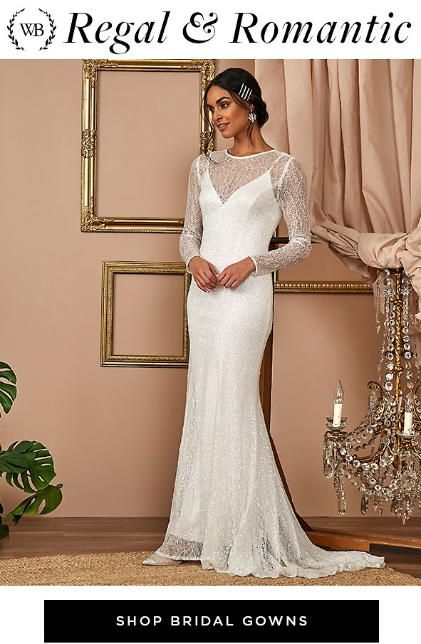 Regal & Romantic. Discover chic styles of the moment that will leave everyone speechless. Shop Bridal Gowns