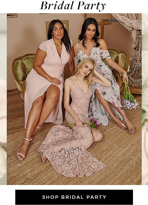 Bridal Party. Soft and feminine, these lovely styles are perfect for your main girls. Shop Bridal Party