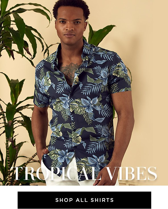 Refreshing prints & lightweight fabrics will keep you looking and feeling cool. Shop Men's Shirts